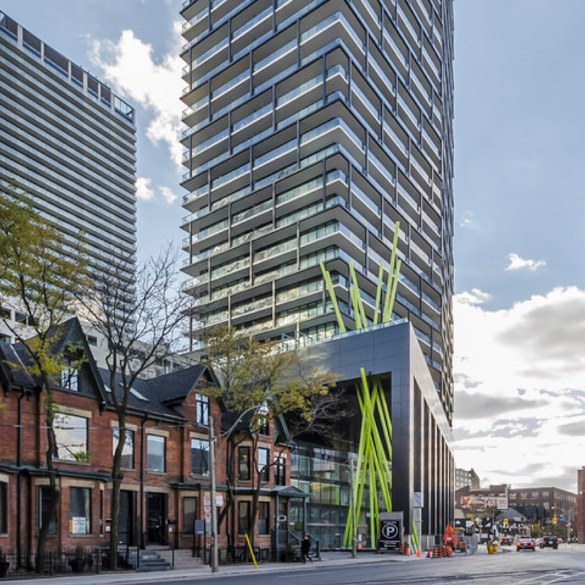 Exterior image of a condo building in Toronto