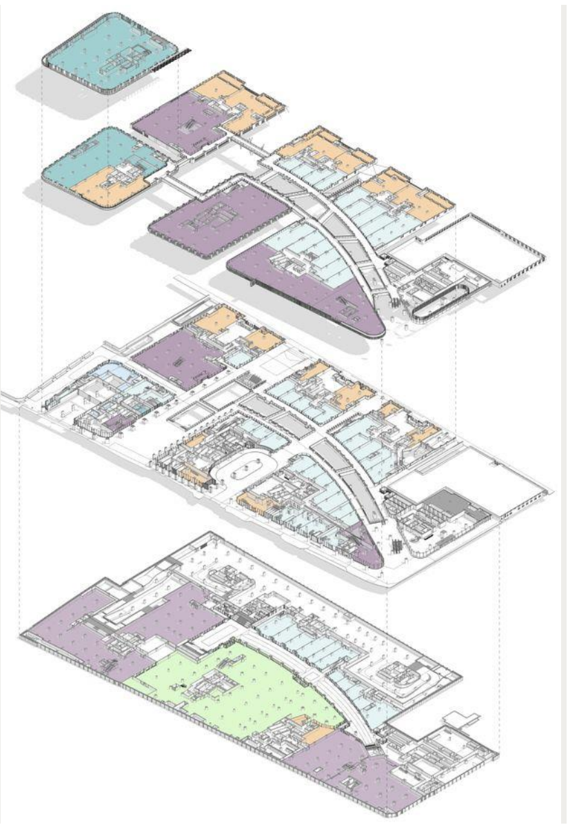 A drawing of the retail concourse that will cut through the centre of the development.